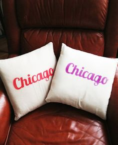 14x14 Chicago Pillow Cover by hellosleepywhale on Etsy, $20.00