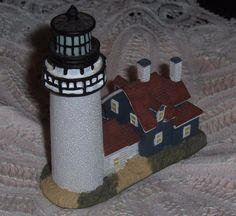 Vtg Cape Cod MA Lighthouse Figurine Highland Light Truro MA Nautical Decor