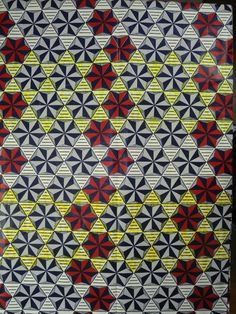 6 Yards Cotton African Fabric Super Wax Print sw806004