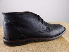 JOHN VARVATOS USA Hipster Chukka Black Leather Shoe Boot Men 10 M EU 44 $198 #JohnVarvatos #ChukkaBoot