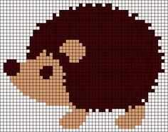 Hedgehog friendship bracelet pattern number 11398 - For more patterns and tutorials visit our web or the app!