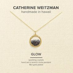 Catherine Weitzman Mini Crystal Gem Shaker Round Pendant Necklace ($46) ❤ liked on Polyvore featuring jewelry, necklaces, crystal necklace pendant, gemstone necklaces, crystal necklace, chain pendant necklace and mini pendants