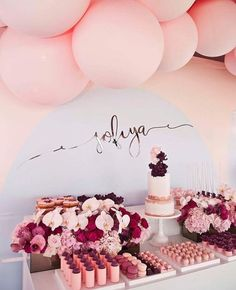 Image result for pink and gold dessert table