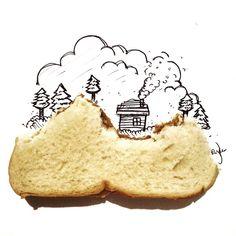 My lodge on top of a peanut butter sandwich hill #snackadoodle #doodle #doodling #doodleaday #doodlebyjaykee #draw #drawing #illustration #fun #creative #sandwich #peanutbutter #gardenia #manila #philippines #instaart #art #myart #igerspinoy #igersmanila