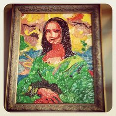 mona lisa rendered in pasta - Google Search