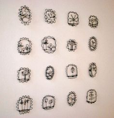 "nice ""complete collection"" annealed steel wire by Barbara Gilhooly"