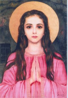 I feel in some ways my daughter was a youthful martyr, she was close in age and appearance to this beautiful saint, and so my devotion began.