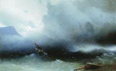 L ouragan sur la mer - (Ivan Aivazovsky)