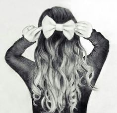 Wellenförmige Frisur-Ideen für schicke Damen - My Frisuren Wavy hairstyle ideas for chic ladies, is what can make you stand out. Long wavy hair can make you stand out. Tumblr Drawings, Girly Drawings, Love Drawings, Drawing Sketches, Art Drawings, Drawing Ideas, Pencil Drawings, Bow Drawing, Sketching