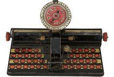 Vintage Decorative Tin Typewriter