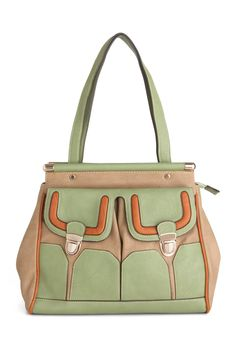someone please buy this for me. Downtown Storefront Bag by Melie Bianco - Orange, Green, Tan / Cream, Buckles, Top Rated