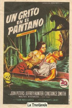 Lure of the Wilderness, 1952 - Un Grito en el Pantano. Old Movies, Vintage Movies, Nice Movies, Jeffrey Hunter, Jean Peters, Jungle Jim's, Vintage Horror, Horror Stories, Horror Movie Posters