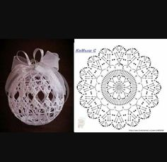 Crochet Ball, Crochet Motif, Tinta Spray, Projects To Try, Cool Stuff, Happy Holidays, Leaves, Noel