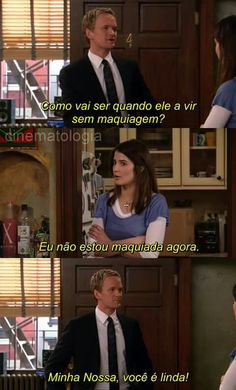 "Listen to Barney Stinson from How I met Your Mother! May all the girls know that they deserve a ""holy crap"" because they really are smokin' without makeup. This is so funny! ilove this show How I Met Your Mother, Tv Quotes, Movie Quotes, Funny Quotes, Funny Facts, Barney And Robin, Movies And Series, Comedy Series, Comedy Tv"