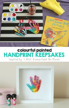 Colourful Painted Handprint Keepsakes | Mama.Papa.Bubba.