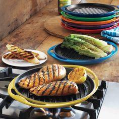 Love these! Le Creuset® Signature Soleil Skinny Grill | Sur La Table