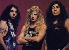 Tom Araya, Dave Mustaine,and Chuck Billy.....................