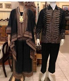 New dress hijab party black Ideas Batik Kebaya, Kebaya Dress, Batik Dress, Batik Muslim, Kebaya Muslim, Blouse Batik Modern, Batik Blazer, Mode Batik, Batik Couple
