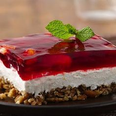 Cranberry Pretzel Salad @keyingredient #cheese