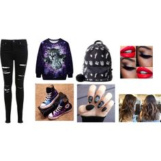 galaxy trend by kirra585 on Polyvore featuring Miss Selfridge, Valfré and Converse
