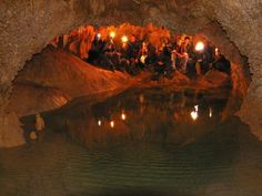 Inside a speleologist cave at Trapani