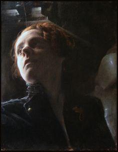 portrait of trinette, michael grimaldi, 2011, oil, tempera on canvas
