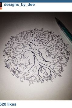 Celtic tree tattoo tatoo ideas for 2019 Simbolos Tattoo, Body Art Tattoos, New Tattoos, Cool Tattoos, Tattoo Tree, Celtic Tree Tattoos, Tree Of Life Tattoos, Tatoos, Tattoo Neck