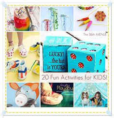 20 Fun Activities for Kids over at the36thavenue.com
