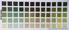 Curso de pintura: carta-color-verde-vejiga