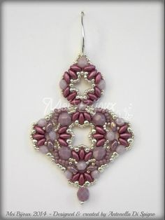 (5) Name: 'Jewelry : Beading pattern Ranya earrings