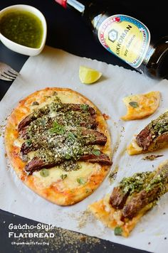Gaúcho-Style Flatbread | make these individual pizzas on naan bread to save time!