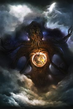 Showcasing Art about Cthulhu mythos, cephalopods, monsters, comics,. Lovecraftian Horror, Cosmic Horror, Fantasy Artwork, Lovecraft Art, Creature Art, Fantasy Creatures, Art, Eldritch Horror, Dark Fantasy Art