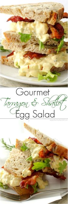 Familiar egg salad gets elevated by the savory flavors of shallot and tarragon... a gourmet twist on a classic sandwich!