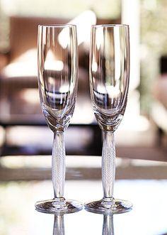 Lalique Diamant Champagne Flutes