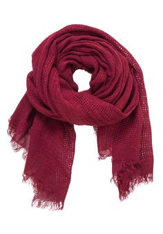weave knit scarf in cranberry - maurices.com
