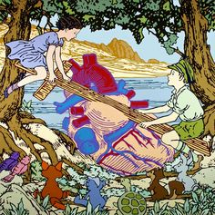 "Gabriele Arruzzo, ""senza titolo (summertime memories)"", enamel and acrylic on canvas, 180x180cm, 2007 #gabrielearruzzo #art #painting #Hitlerjugend #heart #woodencross"