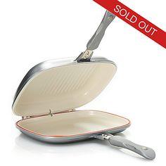 446-244- Cook's Companion® Cast Aluminum Ceramic Nonstick Low Pressure Versa Flip Pan