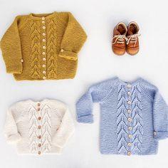 Knitted sweater, knitting, kids clothing, woolspire.com, strikkedilla, Norwegian, garterleavesjacket, kids sweater