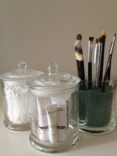 Great ideas for using those empty glasshouse candle jars!