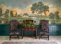 beauty wallpaper chinoiserie results - ImageSearch Scenic Wallpaper, Botanical Wallpaper, Wallpaper Panels, Landscape Wallpaper, Gracie Wallpaper, Home Wallpaper, Hand Painted Wallpaper, San Francisco Houses