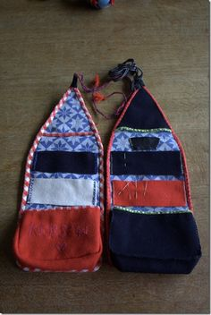 Embroidery Bags, Folk Embroidery, Fabric Crafts, Sewing Crafts, Sewing Projects, Sewing Kit, Free Sewing, Bag Patterns To Sew, Sewing Patterns