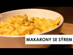 MAKARONY SE SÝREM - YouTube Macaroni And Cheese, Make It Yourself, Fit, Ethnic Recipes, Youtube, Mac And Cheese, Shape, Youtubers, Youtube Movies
