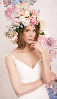 #flowercrown #bohobride  Luxury bridal boutique, Trowbridge, #Wiltshire. We stock a wonderful selection of #designer #weddingdresses and run a closed door policy to provide you with the ultimate shopping experience. Find your #dreamdress here with us. www.devlinbridalcouture.co.uk.