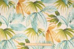 Richloom Shady Printed Cotton Drapery Fabric in Breeze $11.95 per yard