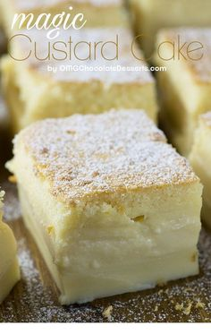 Vanilla Magic Custard Cake is melt-in-your-mouth soft and creamy dessert. Vanilla Magic Custard Cake is melt-in-your-mouth soft and creamy dessert. Easy Cake Recipes, Easy Desserts, Sweet Recipes, Delicious Desserts, Magic Cake Recipes, French Recipes, Amazing Dessert Recipes, Drink Recipes, Jello Dessert Recipes