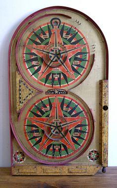 Vintage 1934 Pinball Game.
