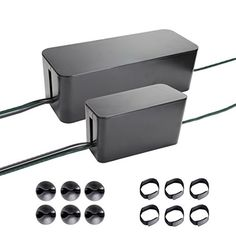Cable Management Systems, Two Boxes : 16 and 9 Inches. Including Cord Organizer Clips and Wire Arranging Ties. (black) Quality Choices http://www.amazon.com/dp/B00M6TGV2Y/ref=cm_sw_r_pi_dp_mHVEub1R1QBQR