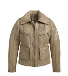 Women's Marzipan Santa Fe Leather Jacket 97158-13VW
