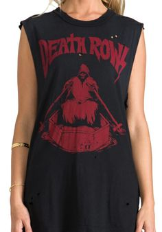 UNIF Death Rows Graphic Tank in Black at Revolve Clothing - Free Shipping!