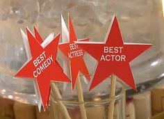DIY Golden Globes Viewing Party - I think it would be fun to vote these things for the attendees.